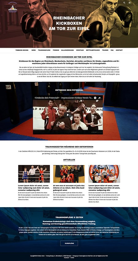 Website Layout (for MediaDistrict, Dormhagen, Germany)